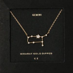 GEMINI | Zodiac Constellation Dainty Necklace Gold